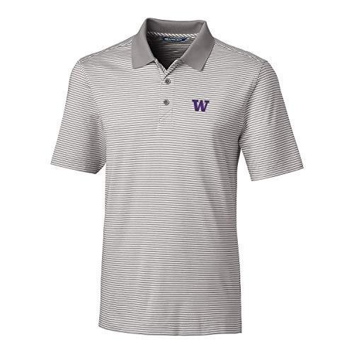 Cutter NCAA Washington Huskies Men's Short Sleeve Tonal Stripe Forge P