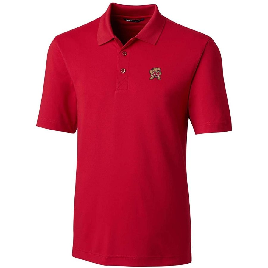 Cutter NCAA Maryland Terrapins Short Sleeve Solid Forge Polo, X-Large,