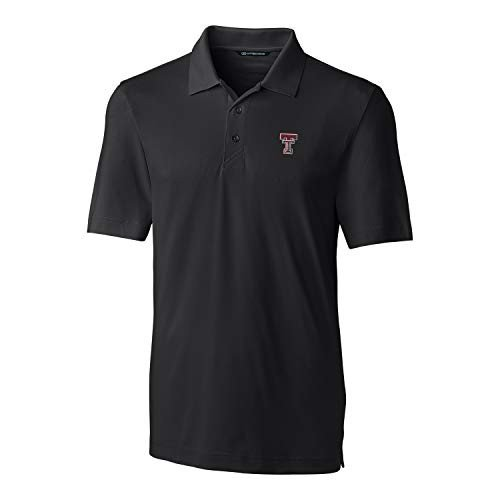 Cutter NCAA Texas Tech 赤 Raiders Short Sleeve Solid Forge Polo, 3X-L