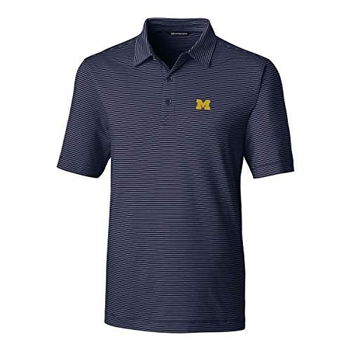 Cutter & Buck NCAA Michigan Wolverines Men's Short Sleeve Pencil Strip