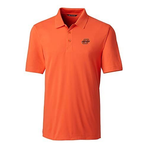 NCAA Oklahoma State Cowboys Short Sleeve Solid Forge Polo, Large, Coll