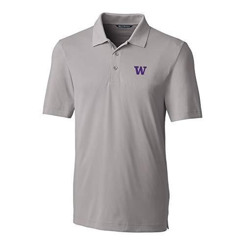 Cutter & Buck NCAA Washington Huskies Short Sleeve Solid Forge Polo, L