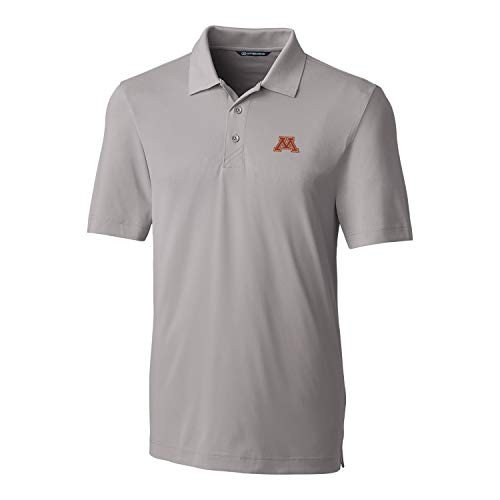Cutter NCAA Minnesota ゴールドen Gophers Short Sleeve Solid Forge Polo, Me