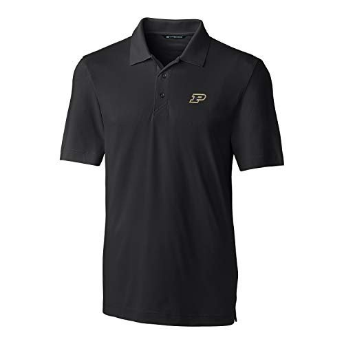 Cutter NCAA Purdue Boilermakers Short Sleeve Solid Forge Polo, Small,