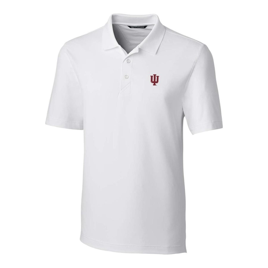 Cutter NCAA Indiana Hoosiers Short Sleeve Solid Forge Polo, XX-Large,