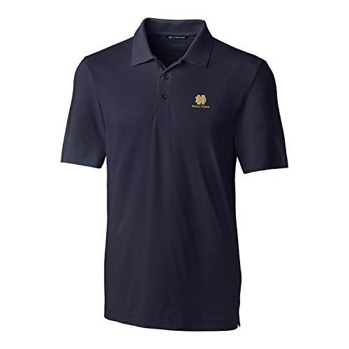Cutter & Buck NCAA Notre Dame Fighting Irish Short Sleeve Solid Forge