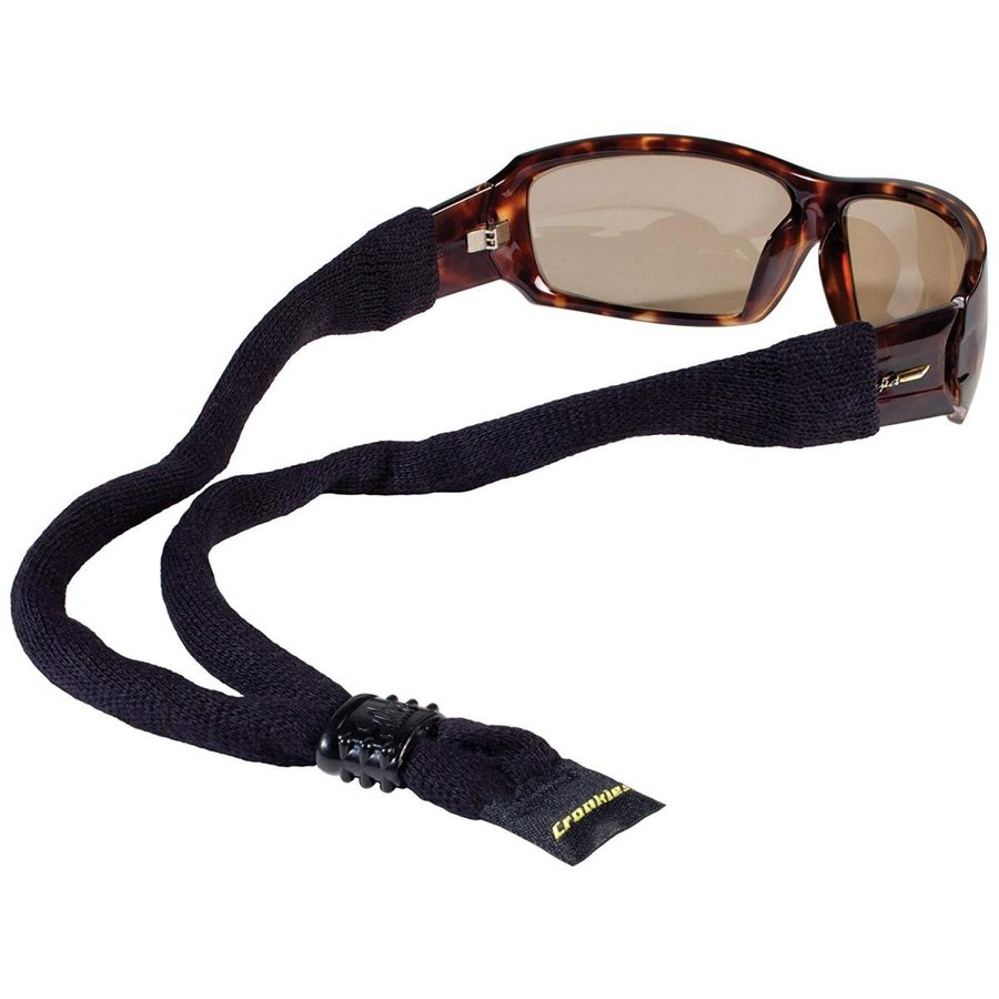Croakies XL Cotton Suiters Sport Eyewear Retainer (14 Inches, 黒)