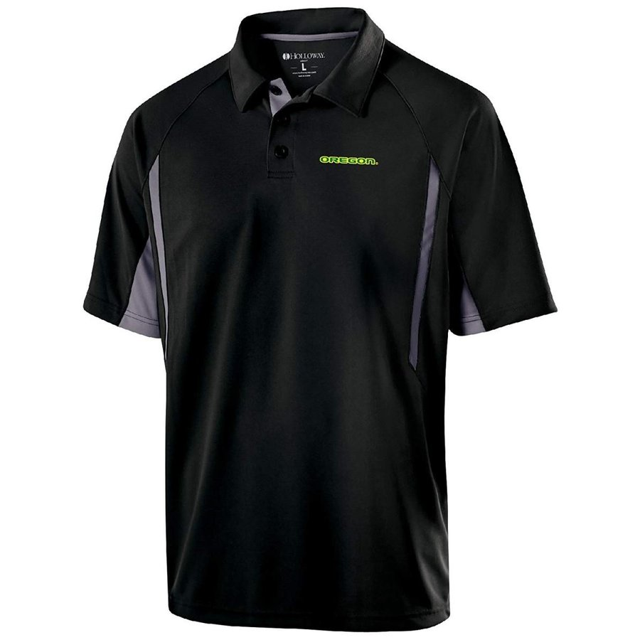 NCAA Oregon Ducks Men's Avenger Short Sleeve Polo, XX-Large, 黒/Gra