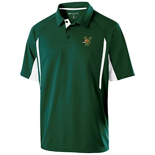 NCAA Vermont Catamounts Men's Avenger Polo, Large, Forest/白い