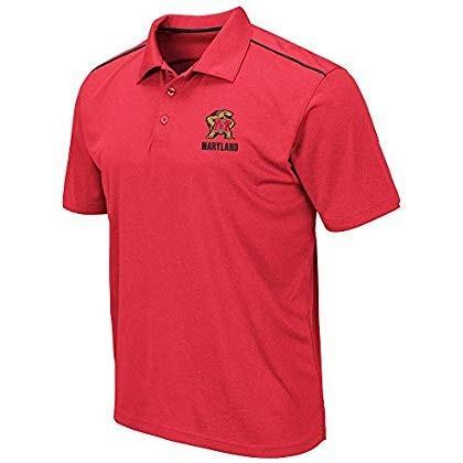 Mens Maryland Terrapins Eagle Short Sleeve Polo Shirt - L