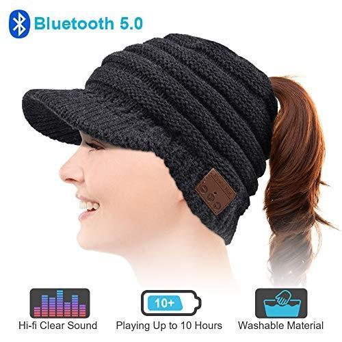 青tooth Beanie Hat, Upgraded 青tooth 5.0 Beanie Hat Gift for Women