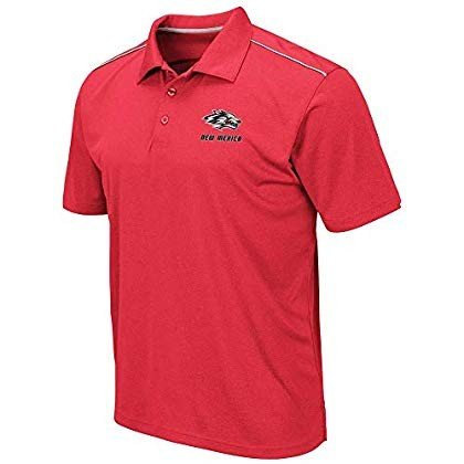 Mens New Mexico Lobos Eagle Short Sleeve Polo Shirt - XL