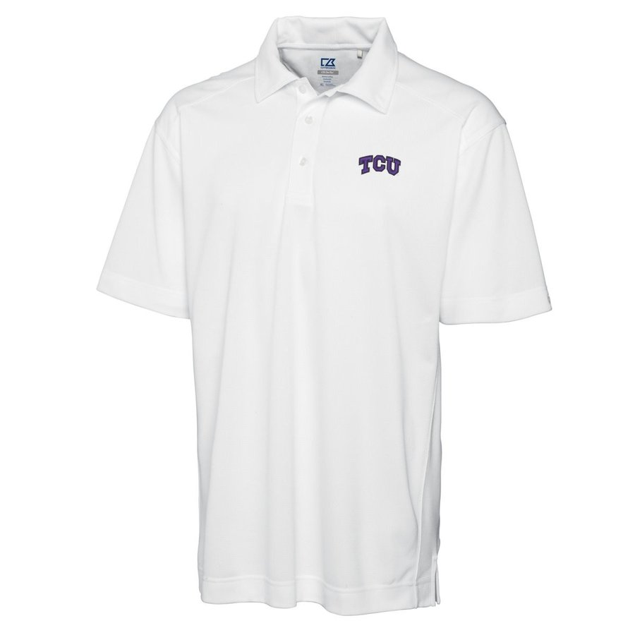NCAA TCU Horned Frogs NCAA Men's CB Dry Tec Genre Polo, XX-Large, Whit