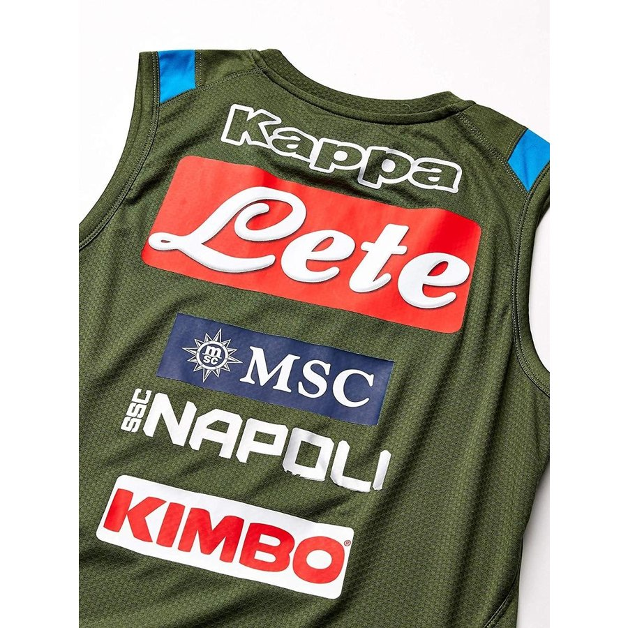 Ssc Napoli 304NYQ0 Italian Serie A Men's Training Top, 緑, Large