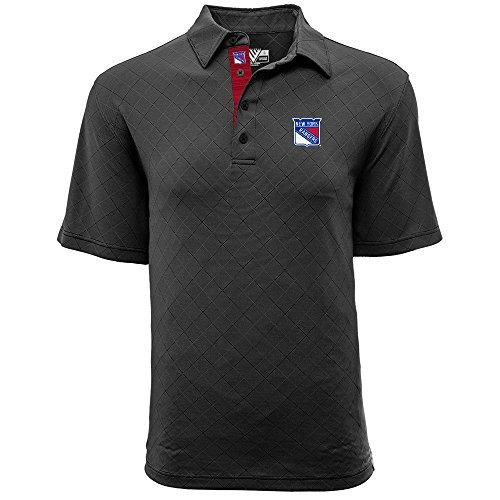 Levelwear LEY9R NHL New York Rangers Men's Barton Icon Heather Polo T-