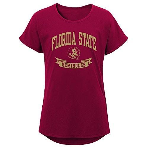 NCAA Florida State Seminoles Girls Outerstuff Short Sleeve Dolman Tee,