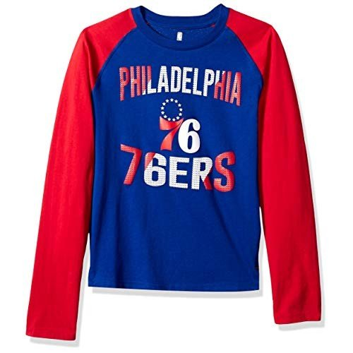 Outerstuff NBA NBA Youth Boys Philadelphia 76ers Free Throw Long Sleev