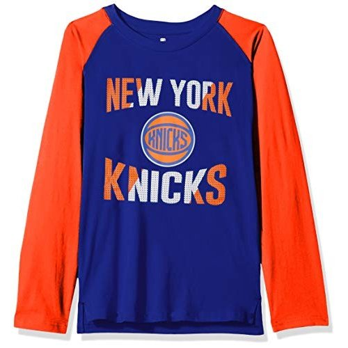 Outerstuff NBA NBA Youth Boys New York Knicks Free Throw Long Sleeve F