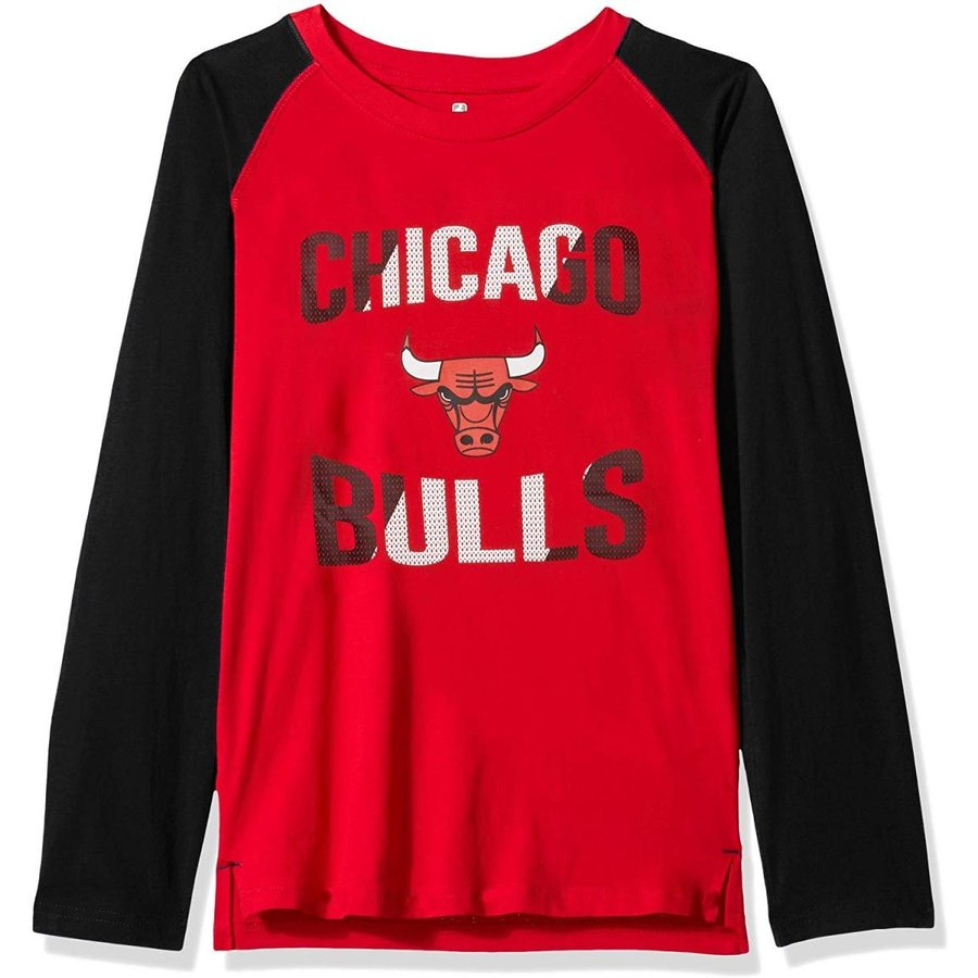 Outerstuff NBA NBA Youth Boys Chicago Bulls Free Throw Long Sleeve Fas