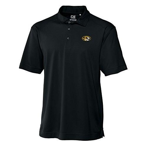 Cutter NCAA Missouri Tigers Men's Genre Polo Tee, Large, 黒
