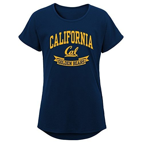 NCAA California ゴールドen Bears Girls Outerstuff Short Sleeve Dolman Tee,