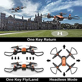 Drone with Camera, TOPVISION WiFi FPV 720P HD Camera & 480P Bottom Cam