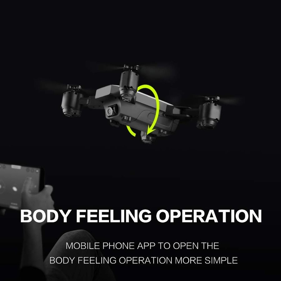 RC Drone,KINGBOT 2.4GHz Foldable Quadcopter WiFi FPV Remote Control Dr