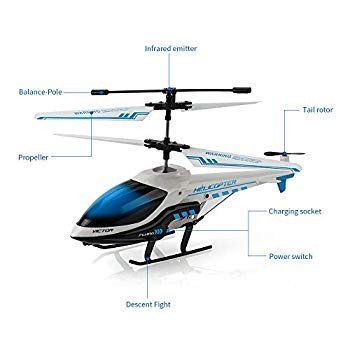 RC Helicopter, KOOWHEEL Rremote Control Helicopter with Gyro 3.5 Chann