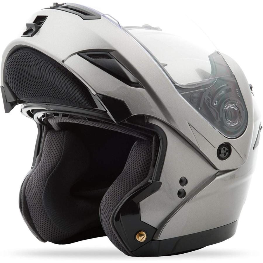 GMAX GM54S Modular Mens Street Motorcycle Helmet - Titanium Large