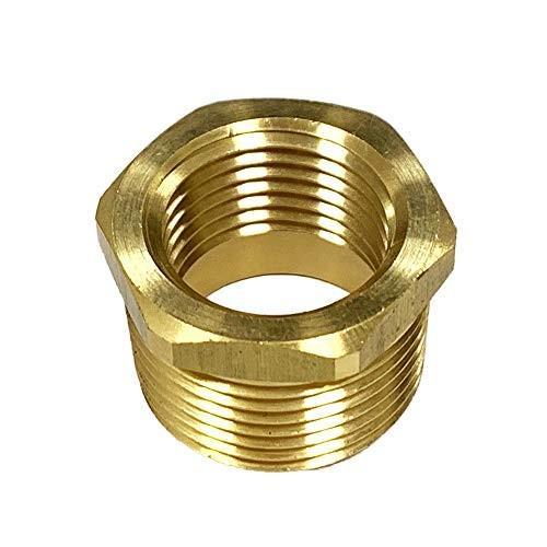 NIGO Brass Pipe Fitting, Hex Bushing (1, 3/8
