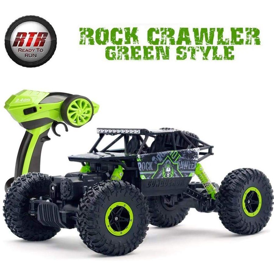 SZJJX RC Car Truck 2.4Ghz 4WD Powerful 1:18 Off-Road Climbing Radio Re