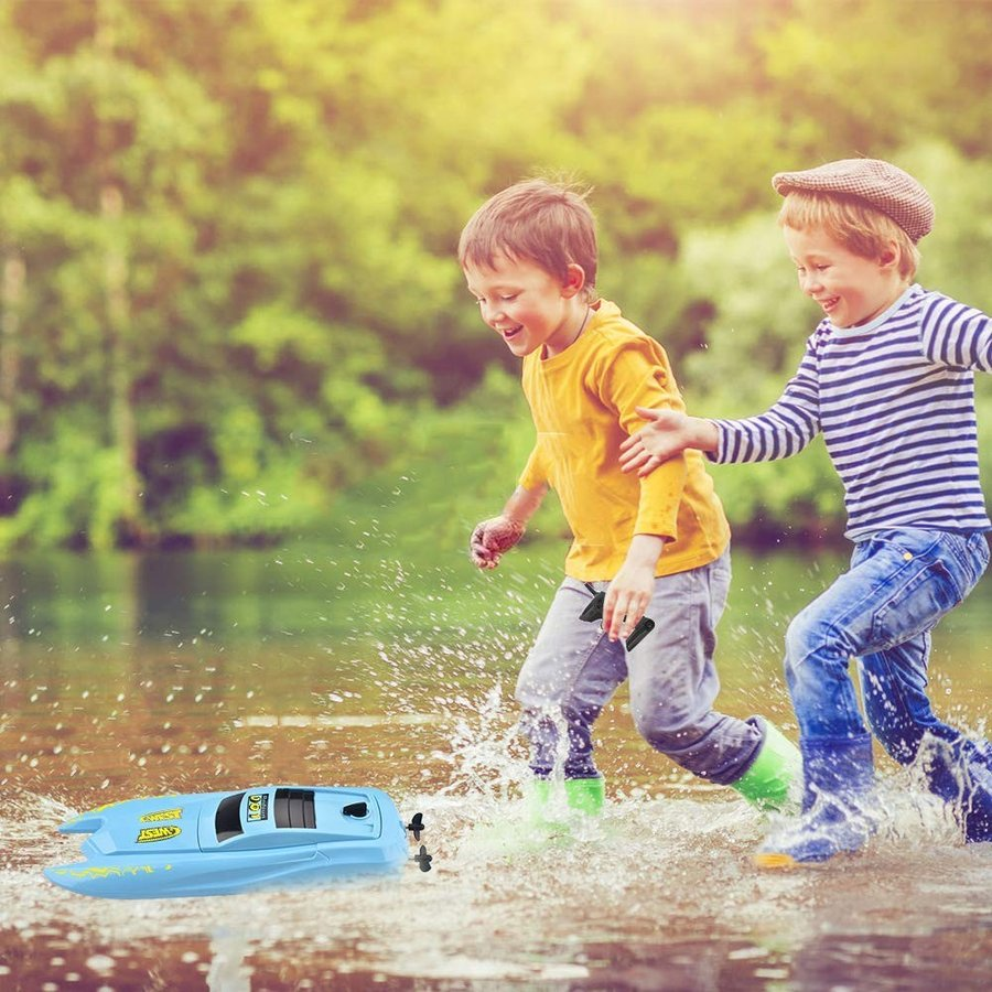 INLAIER RC Boat Remote Control Boats for Pools and Lakes - H126 Mini R