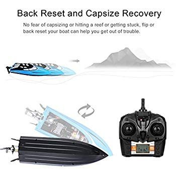 SZJJX RC Boat 20KM/H High Speed Remote Control Boats for Pools and Lak