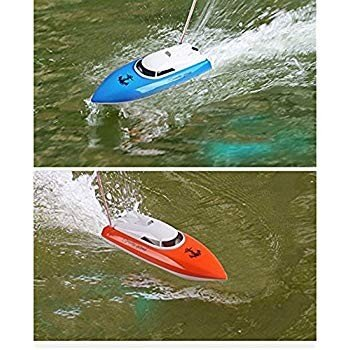 SZJJX RC Boat Remote Control Racing Boat High Speed Electric 4 Channel