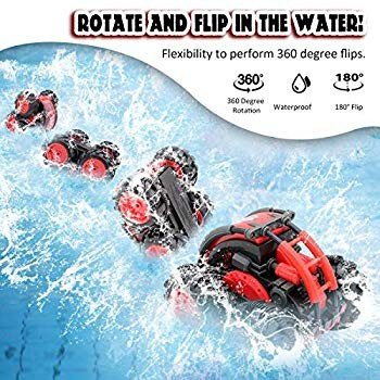 Seckton Car Toy for 6-10 Year Old Boys Amphibious Remote Control Car f