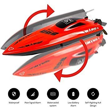 UDIRC 2.4Ghz RC Racing Boat for Adults 30KM/H High Speed Electronic Re