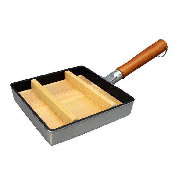正方形 卵焼き用木蓋 (落とし蓋) 21cm用 だし巻き卵/厚焼き玉子焼き|levenmarqt|02