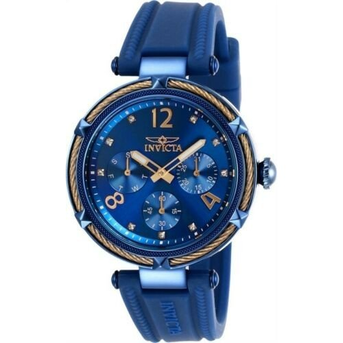 【10%OFF】 腕時計 インヴィクタ レディース Invicta 29140 Women's Bolt Blue Dial Blue Silicone Strap Watch, 輸入品屋さん 8cee4d29