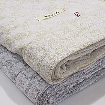 ブルーム 今治産 タオルケット IKOI いこいタオルケット シングルサイズ (ライトグレー)
