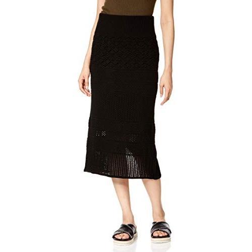 ラグナムーン スカート パネル総編みニットスカート レディース 031930800401 ブラック 日本 S (日本サイズS相当)