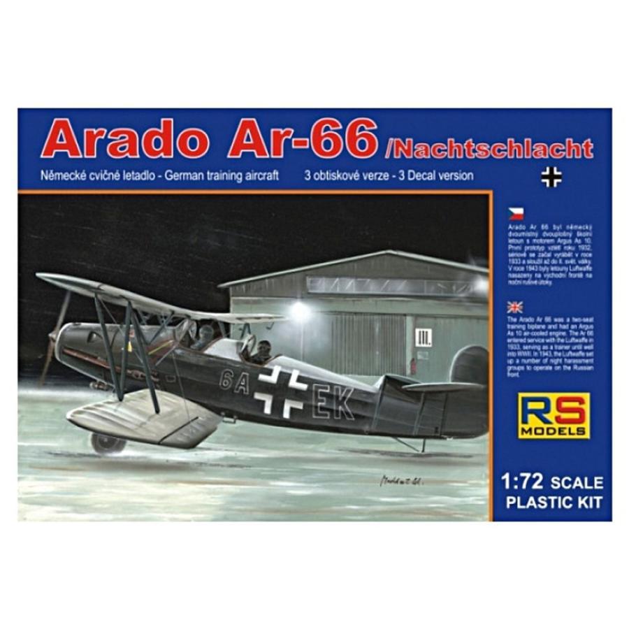 RSモデル 1/72 ドイツ空軍 アラド Ar66 夜間戦闘機 プラモデル 92052