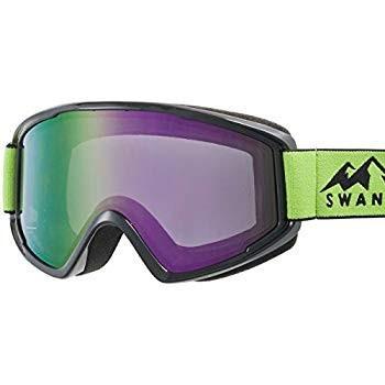 SWANS(スワンズ) スキー スノーボード ミラー ゴーグル くもり止め メガネ対応 大人用 男女兼用 100MDH BK/LM