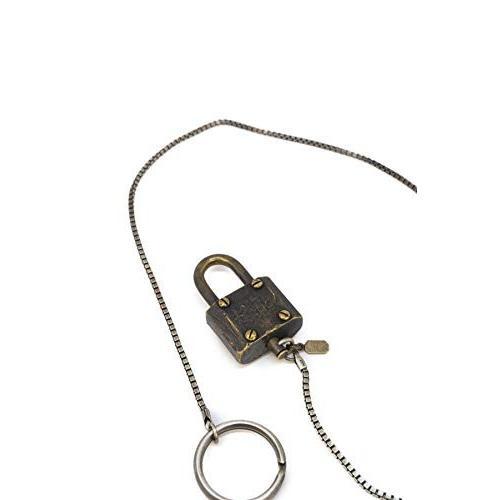 バルデセブンティセブン Varde77 南京錠モチーフシルバー&真鍮コンビウォレットチェーン VRTH-HM-032