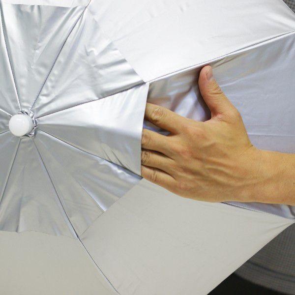 日傘 帽子 ハッと!アンブレラ 遮熱 遮光 涼しい かぶる傘 かぶる日傘 父の日 ギフト LIEBEN-3810|lieben2000|05