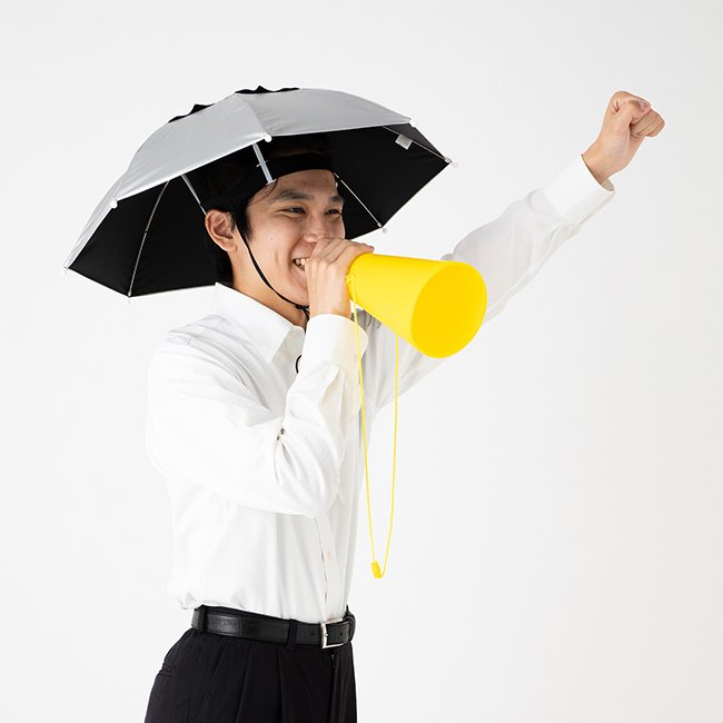 日傘 帽子 ハッと!アンブレラ 遮熱 遮光 涼しい かぶる傘 かぶる日傘 父の日 ギフト LIEBEN-3810|lieben2000|07