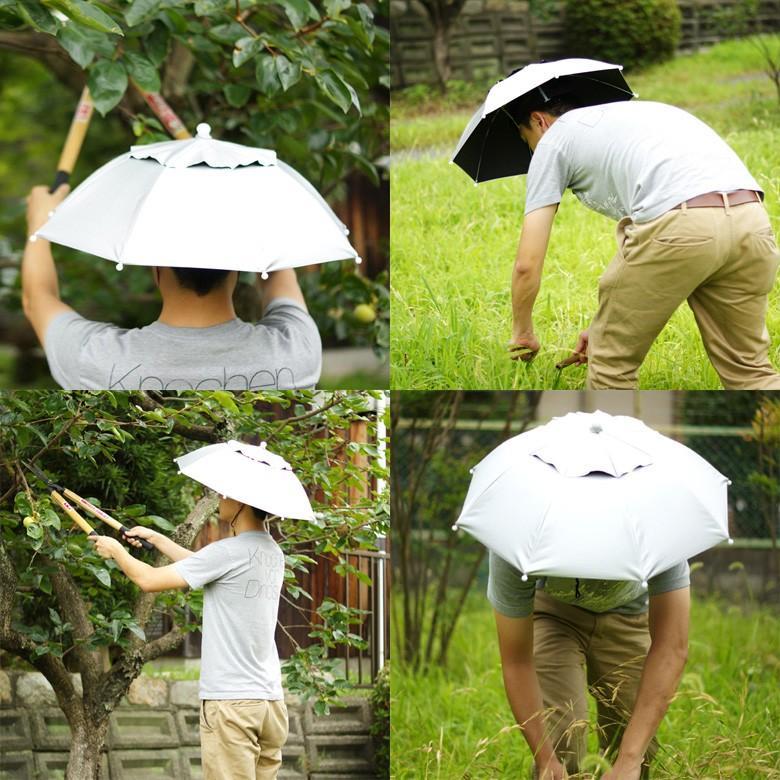 日傘 帽子 ハッと!アンブレラ 遮熱 遮光 涼しい かぶる傘 かぶる日傘 父の日 ギフト LIEBEN-3810|lieben2000|09