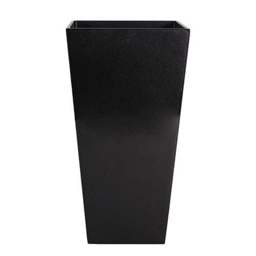 植木鉢 おしゃれ 軽量 ヴォーグ 35cm×H70cm トールスクエアー メタリックブラック 中底網付(穴無)