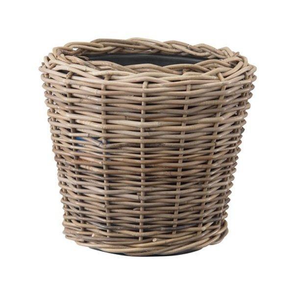 籐カゴ 直植え可能 ラタンバスケット モンデリック ラタン 外径45cm