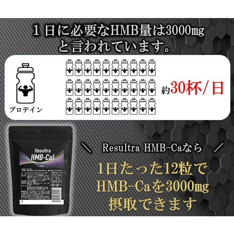 HMB サプリ HMBカルシウム サプリメント 高純度 90000mg 1袋 360タブレット Resultra リザルトラ 30日分 数量限定価格 life-shop-mcm 03