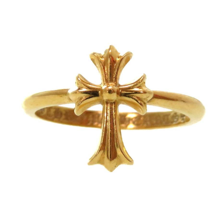 【本物新品保証】 美品 クロムハーツ 22K CHクロス バブルガムリング 指輪 イエローゴールド 5号 アクセサリー 0117 CHROME HEARTS, レンズピット! b9bdca53